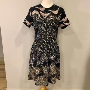 Valentino Dress with Birds and Flowers